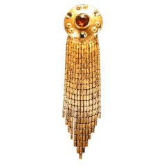 Ben Amun Goldtone & Faceted Glass Brooch
