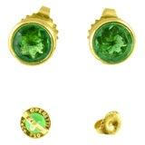 Tiffany & Co 18K Yellow Gold & Emerald Studs
