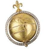 CAPUT MUNDI GOLD + DIAMOND PENDANT