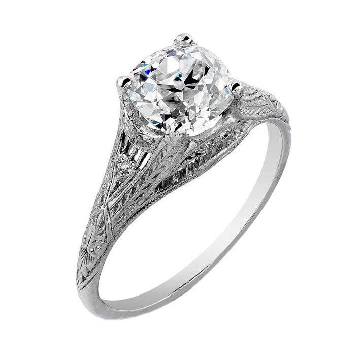 deco engagement ring 1 48 carats at 1stdibs