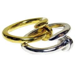 Cipullo Pair of Large Nail Bracelets