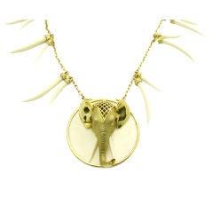 Elephant Ivory Tribal Necklace