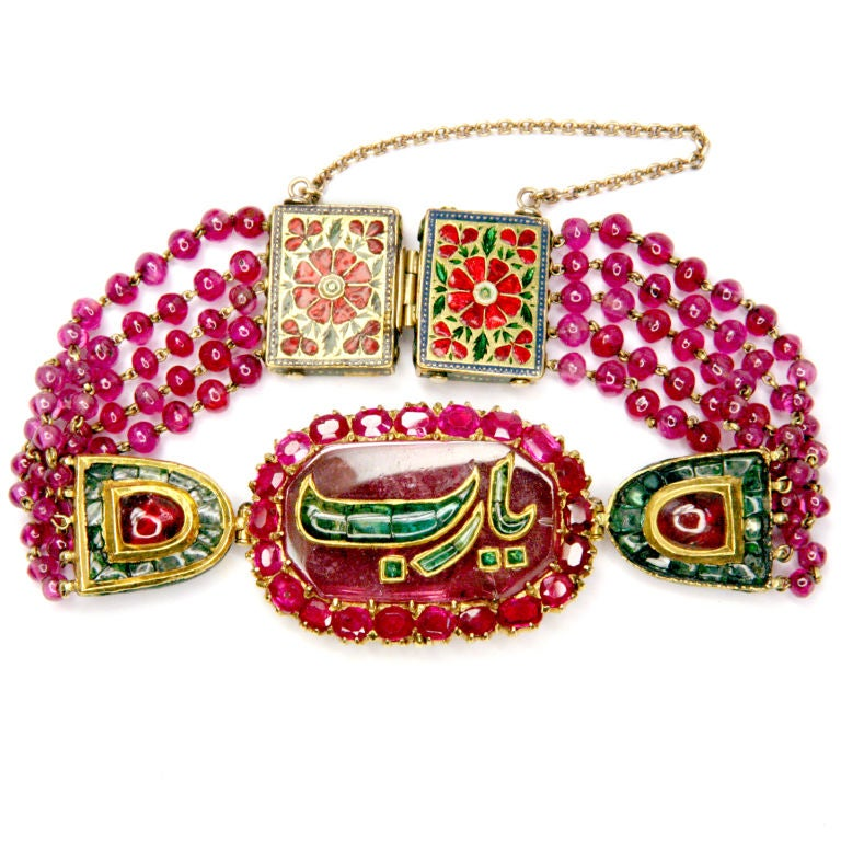 Ruby And Emerald Indian Bracelet 1