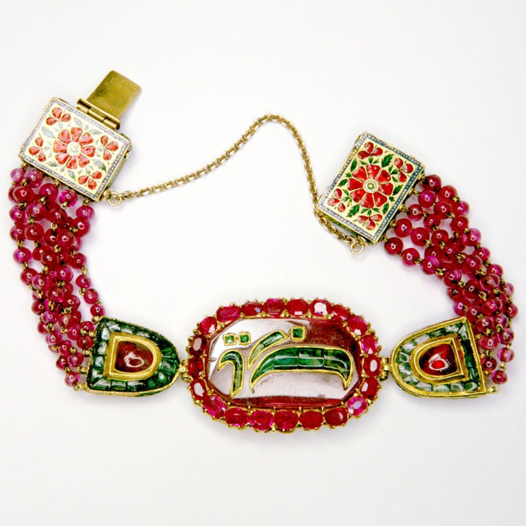 Ruby And Emerald Indian Bracelet 2