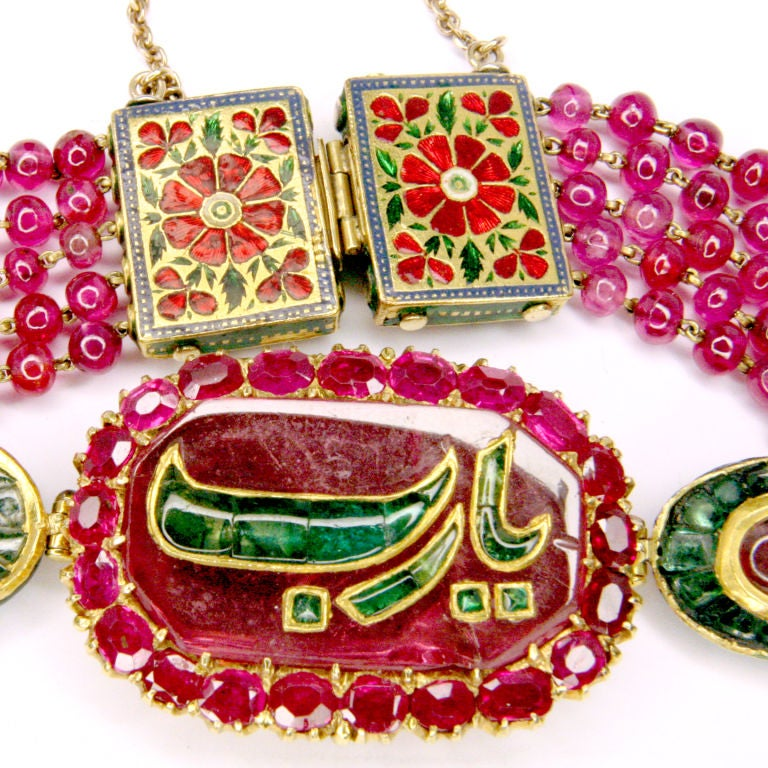 Ruby And Emerald Indian Bracelet 3