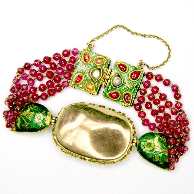 Ruby And Emerald Indian Bracelet 4