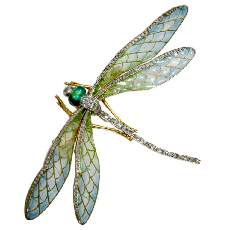 Art Nouveau Dragonfly Brooch 1