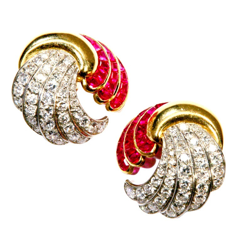 Ruby & Diamond Earrings  1