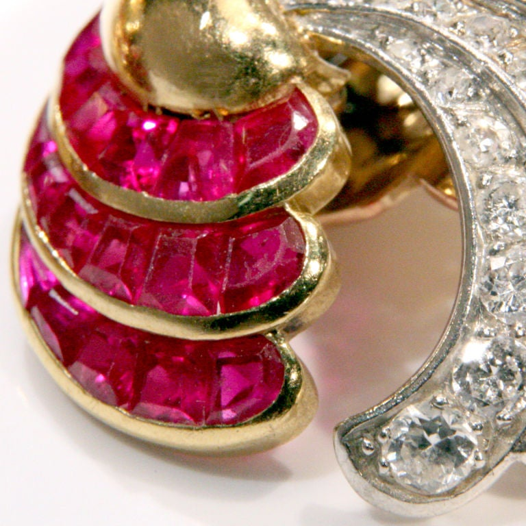 Ruby & Diamond Earrings  3
