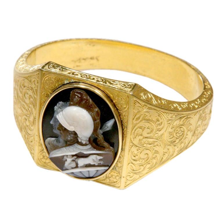 Victorian Gold Cameo Bracelet at 1stdibs