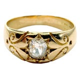 ANTIQUE GOLD & DIAMOND RING