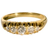 ANTIQUE DIAMOND 5-STONE RING