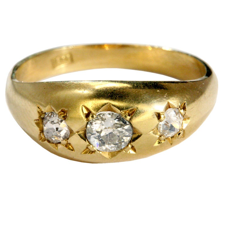 ANTIQUE DIAMOND GYPSY RING For Sale at 1stdibs