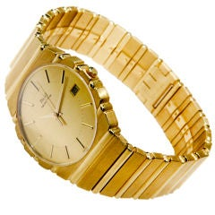 Piaget Tiffany & Co. Yellow Gold Polo Date Quartz Wristwatch