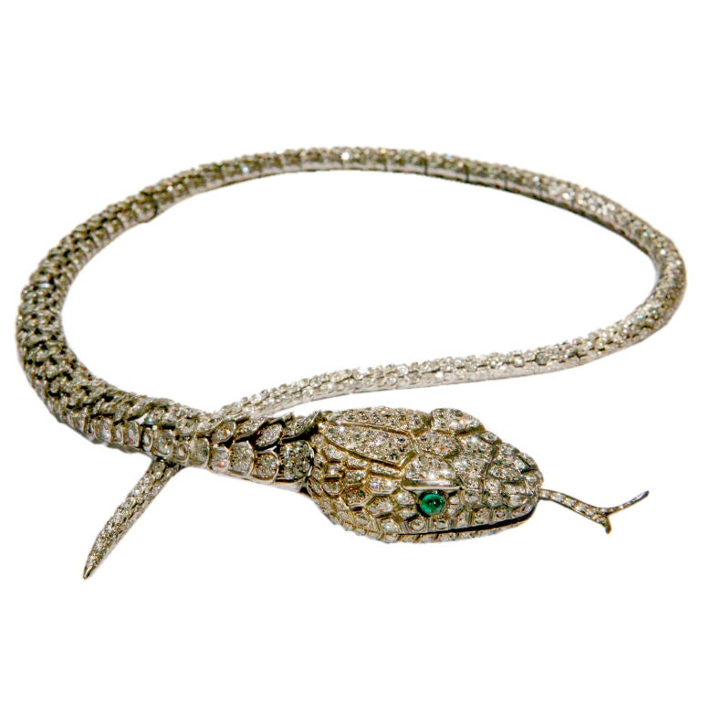 articulated snake necklace at 1stdibs