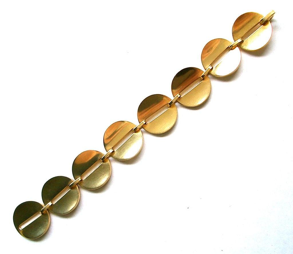 gold bracelet by george jensen at 1stdibs. Black Bedroom Furniture Sets. Home Design Ideas