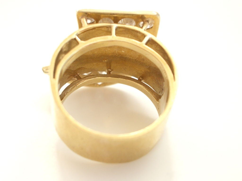 Gold and Diamond Ring c1970 2