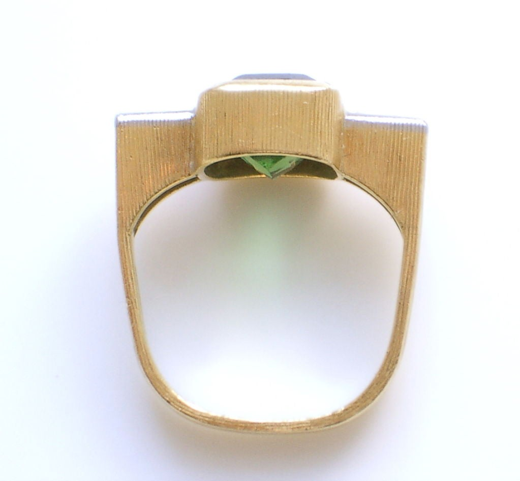 Andrew Grima Tourmaline Diamond Gold Ring 2