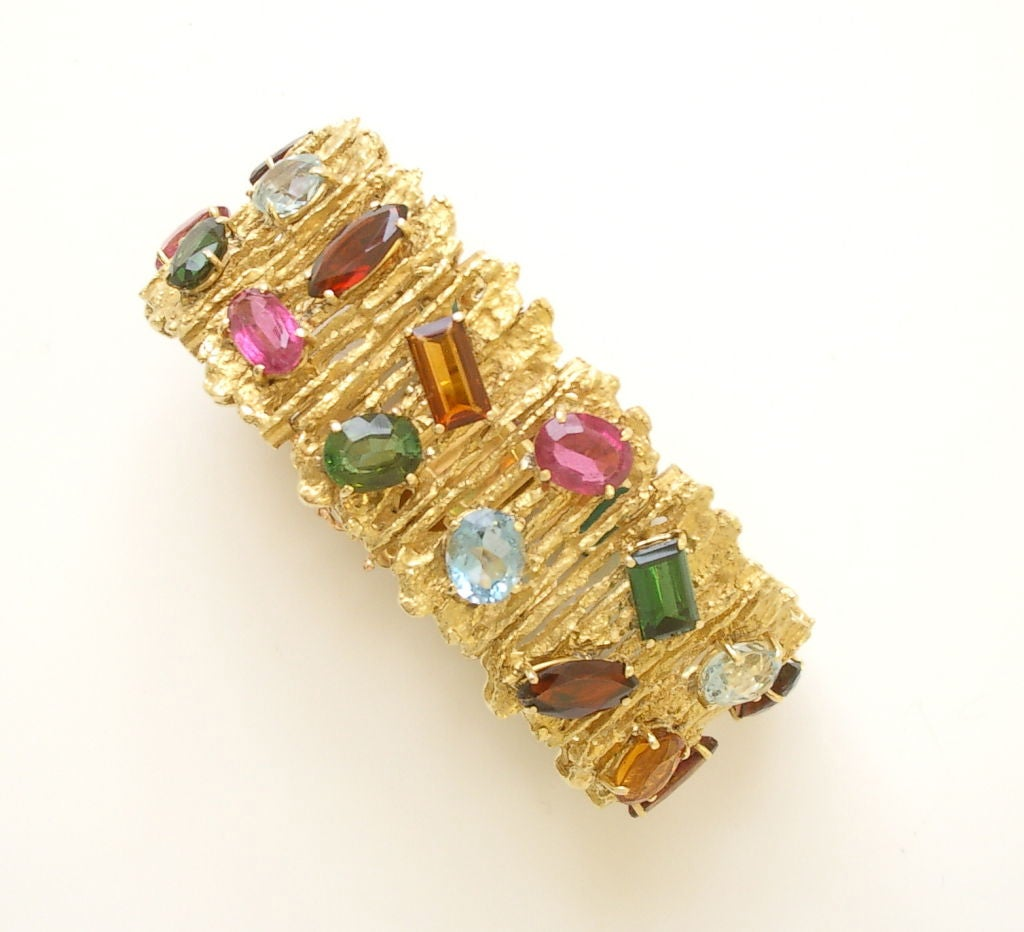 and multi colored gold h kimberly bracelet stern stone by