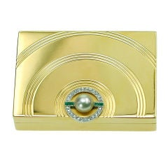 An Art Deco Gold Pillbox by Van Cleef & Arpels