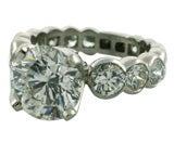 Sequential Bezel Set Diamond Mounting in Platinum w Diamond