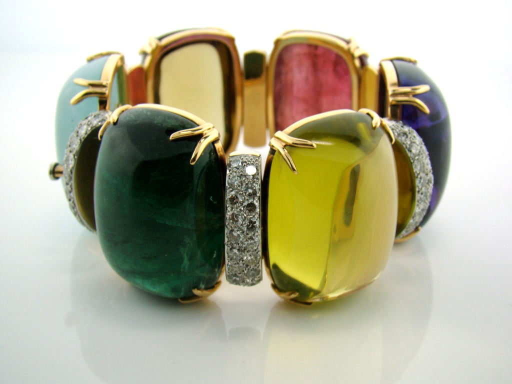 18K Yellow Gold in Diamond and Assorted Cabachon Stones 500 cttw 3
