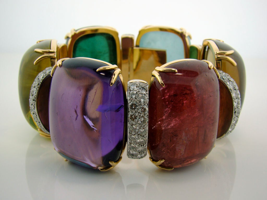 18K Yellow Gold in Diamond and Assorted Cabachon Stones 500 cttw 2