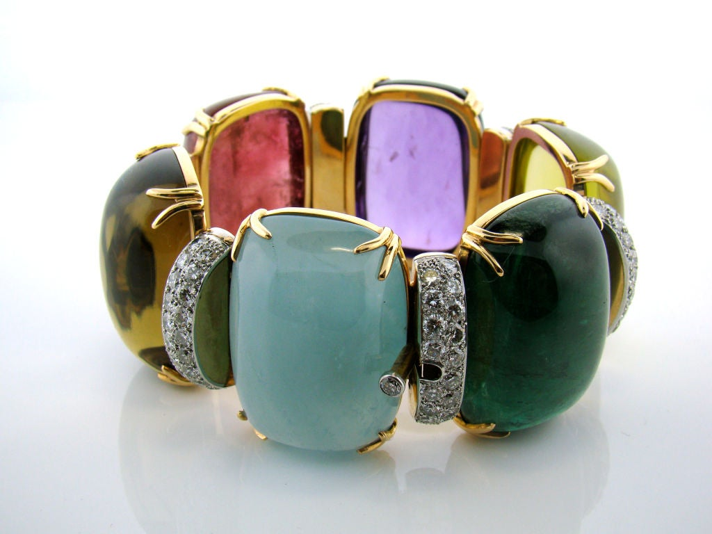 18K Yellow Gold in Diamond and Assorted Cabachon Stones 500 cttw 4