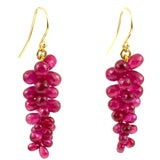 18Kt Gold and Ruby Briolette Earrings