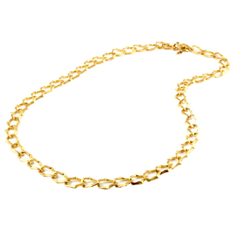 22kt gold chain necklace at 1stdibs