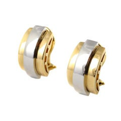 18Kt Gold and Platinum Earrings