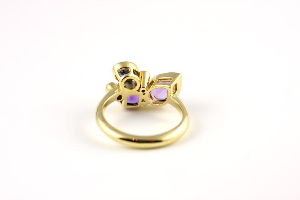 Women's Small Violet Kaleidoscope Ring