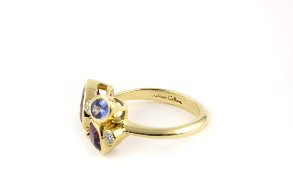Contemporary Small Violet Kaleidoscope Ring