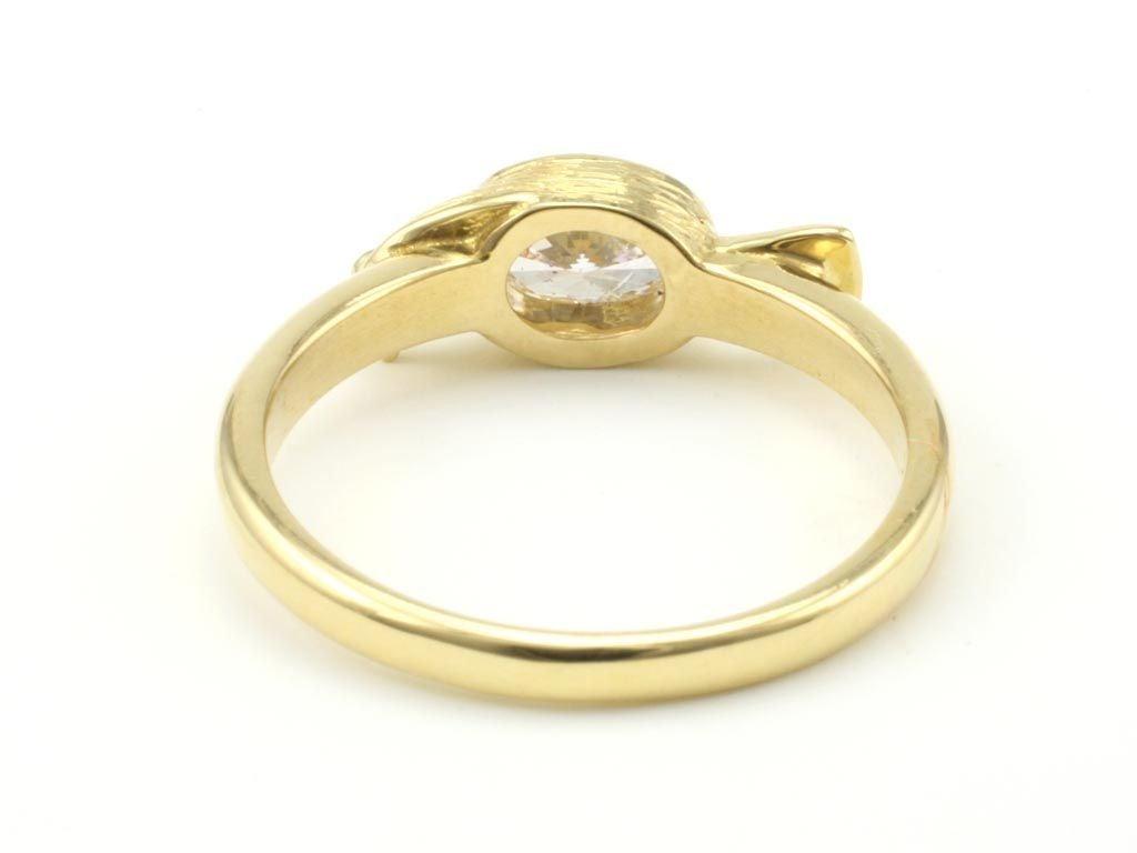 Contemporary Diamond Gold Bird Ring