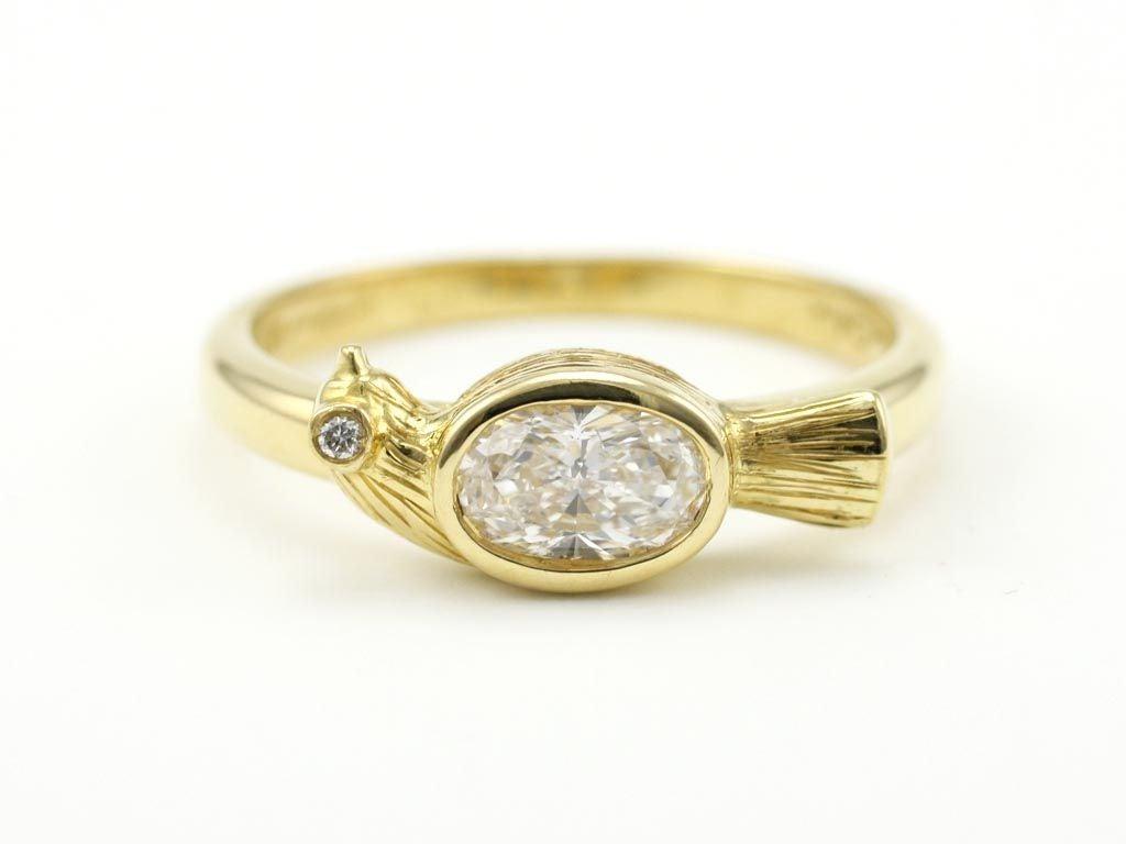 Women's Diamond Gold Bird Ring