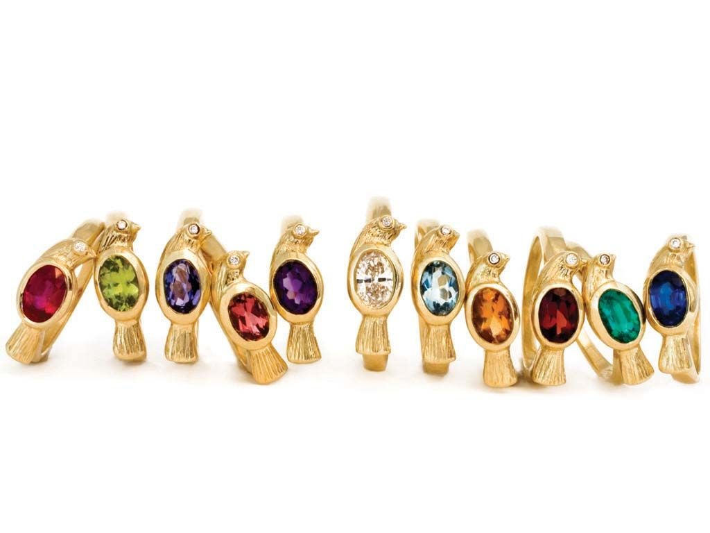 Diamond Gold Bird Ring 1