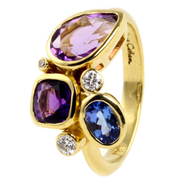 Small Violet Kaleidoscope Ring