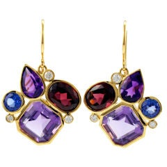 Julius Cohen Violet Kaleidoscope Earrings