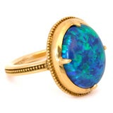 22kt Gold and Black Opal Ring