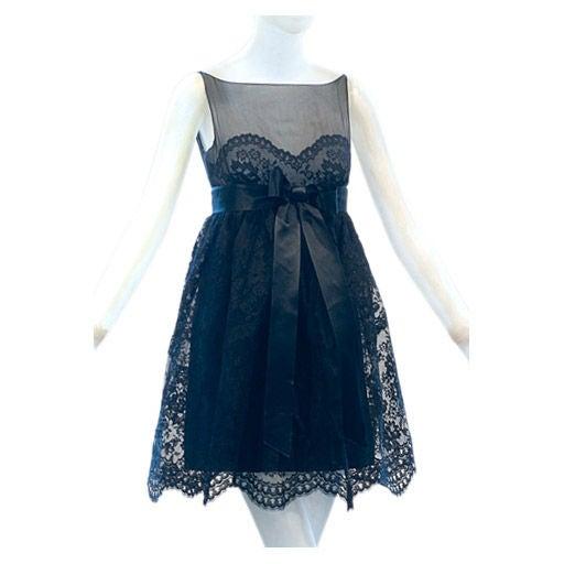 1960s Black Lace Babydoll at 1stdibs