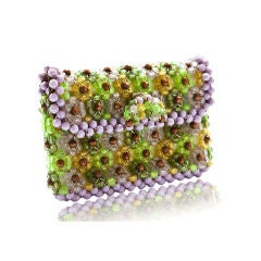 Small beaded colorful 60's  clutch