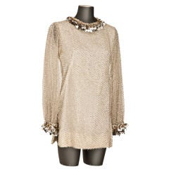 "Belinda Bellville  60's ""Eyelash"" Mini dress."