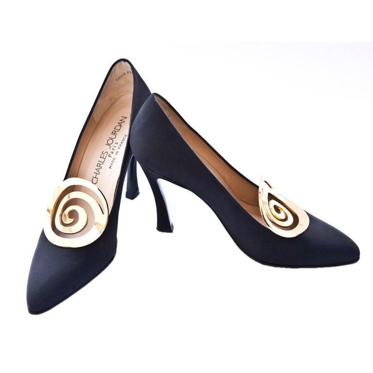 Black Designer Evening Shoes