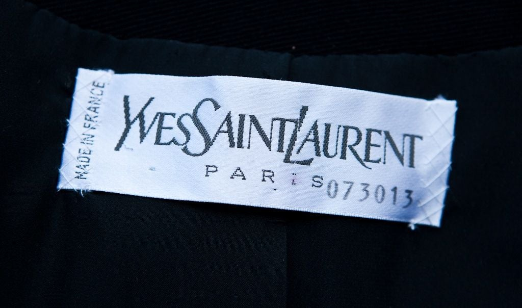 Women's YSL Couture wool jacket with passementerie embellishment For Sale