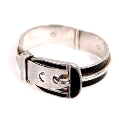 Gucci Sterling Silver Buckle Bracelet