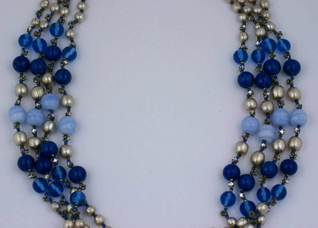 bristol never jewellery in necklace worn blue glass bead p lawrence hill