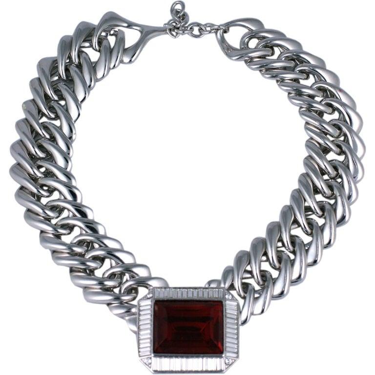 YSL Ruby Biker Collar 1