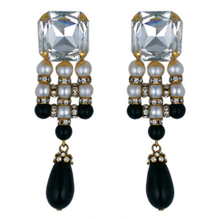 Valentino Dramatic Evening Earrings For Sale At 1stdibs