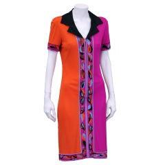Amazing Emilio Pucci Silk  Rose Stem Dress