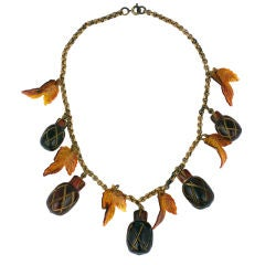 Bakelite Acorn Necklace